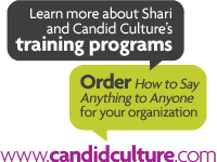 Learn more about Shari and Candid Culture's training programs at candidculture.com